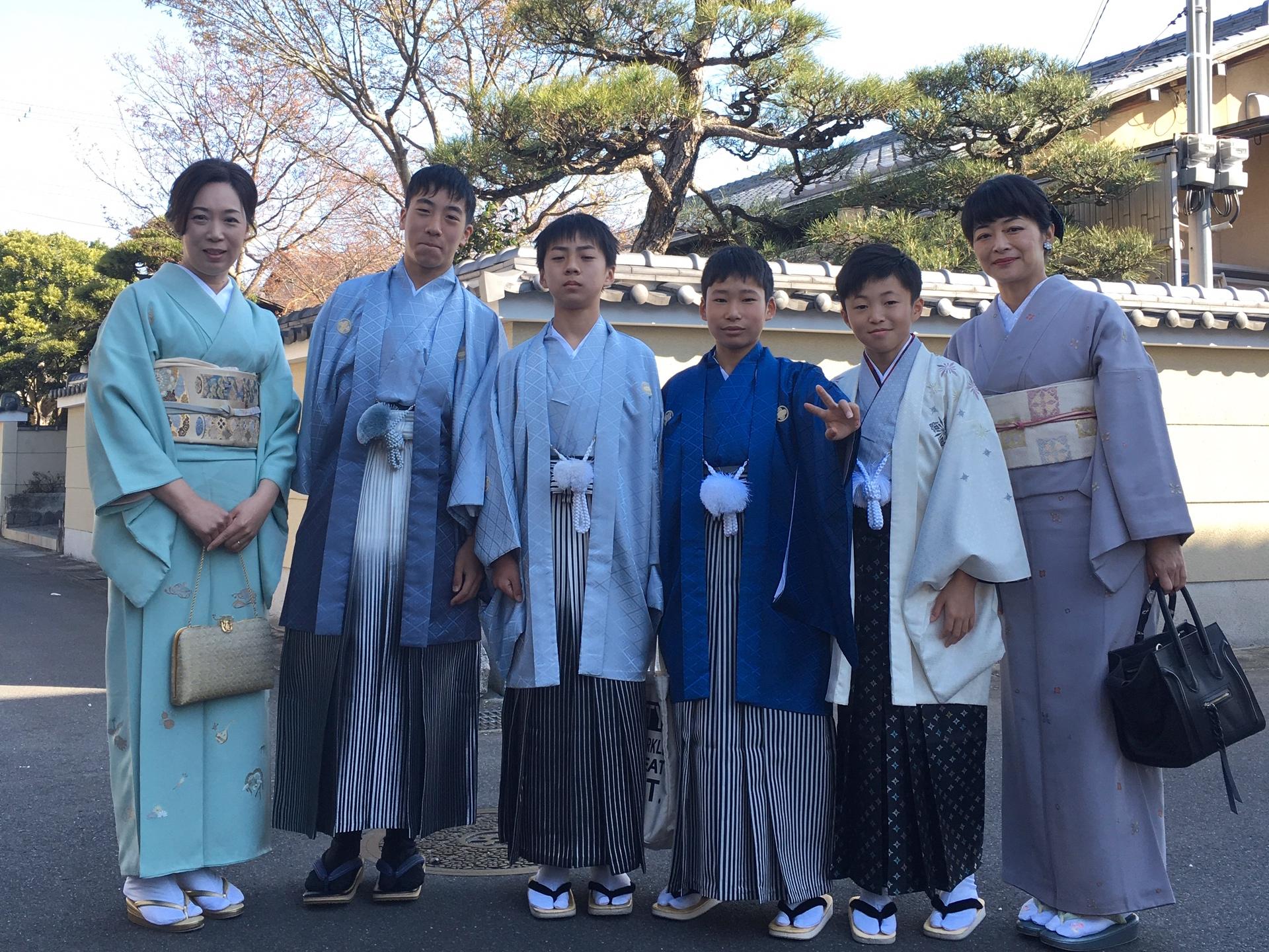 京都の卒業式